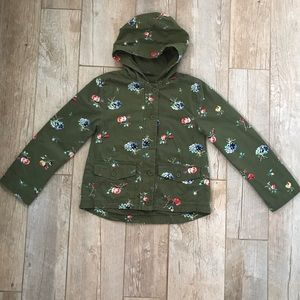 Gap Kids Olive Green Jacket with Flowers